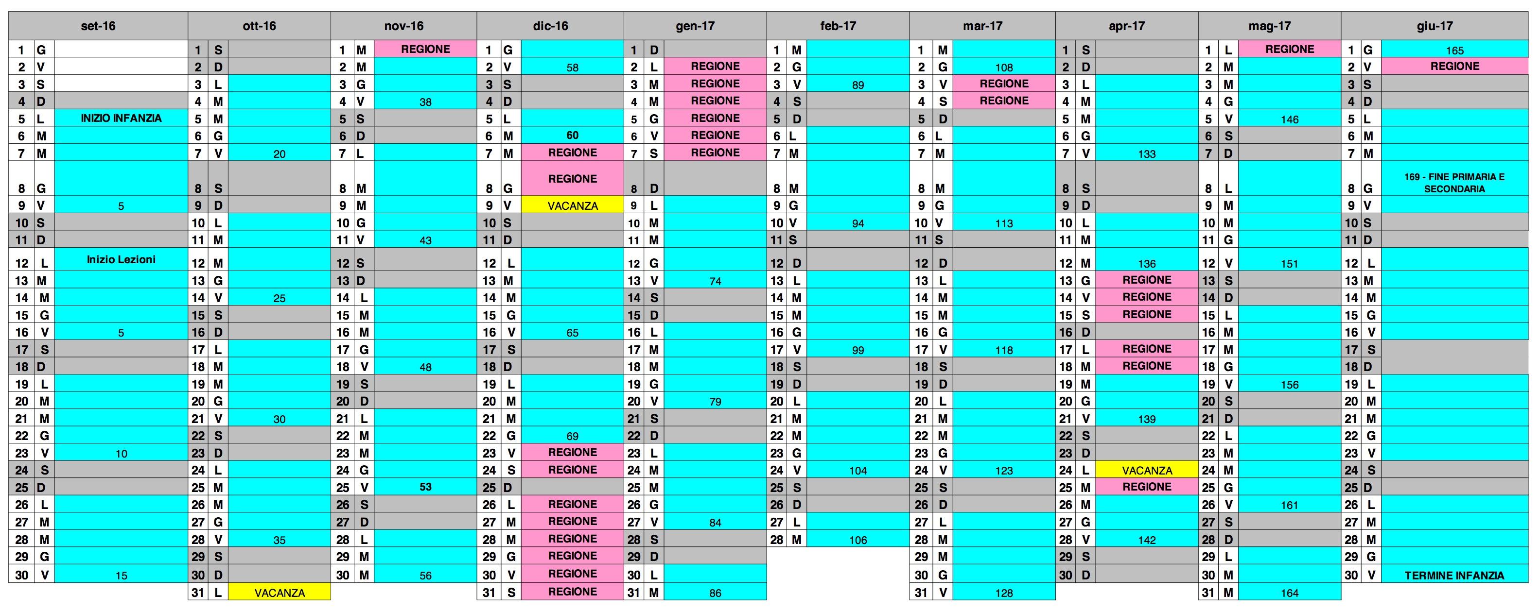 Calendario a s 2016 2017 madre bucchi for Calendario eventi milano 2017